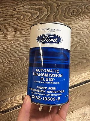 vintage FORD ATF 1 quart Oil Can advertising tin