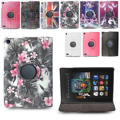 For Amazon Kindle Fire 7 inch Tablet Cute Pattern PU Leather Stand Case Cover