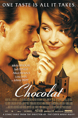 "Chocolat Poster ""johnny Depp"" Licensed ""brand New"" Juliette Binoche"