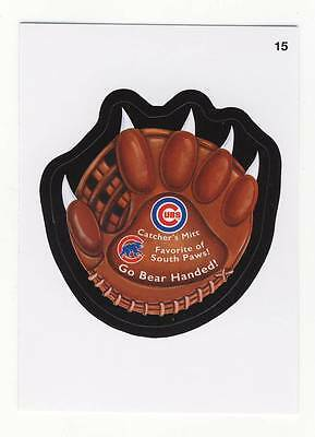 Wacky Packages MLB (2016) (2) CHICAGO CUBS Honey Jar & Go Bear Handed Stickers