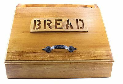 UNBRANDED Wood Bread Box With Hinged Door