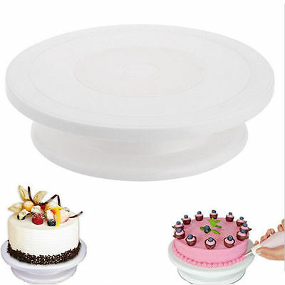 Cake Decorating Turntable Swivel Plate Baking Tools Rotating Stand Dessert Party