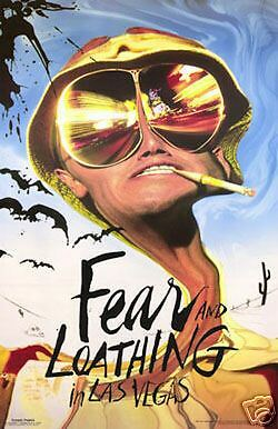 """FEAR and LOATHING IN LAS VEGAS POSTER """"LICENSED"""" BRAND NEW """"JOHNNY DEPP"""""""