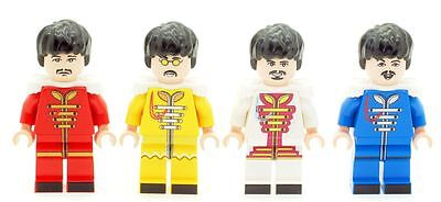 Custom Designed Minifigures Sgt. Pepper's (The Beatles) Printed On LEGO Parts
