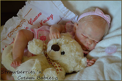 Strawberries'n'Cream ~ Reborn Baby Girl 'Bluebell' By Cassie Brace ~ NEW RELEASE