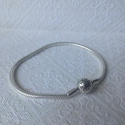 Genuine Pandora 20cm Moments Smooth Sterling Silver Bracelet AS NEW