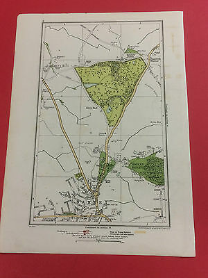 Map Geographia Original 1923 Monken Hadley Wrotham Park Barnet Bentley  14 x 10""