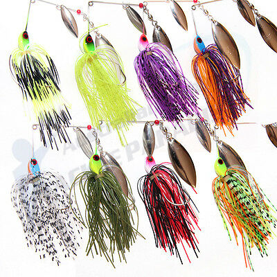 8x 1/2oz Spinnerbaits Spinner Bait Fishing Lures Buzz Fly Bass Cod Barra Spoons
