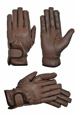Riders Trend Embossed Synthetic PU Riding Gloves with Thinsulate Lining - Large