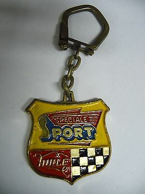 Porte Clefs Metal Emaille Huile Speciale Sport