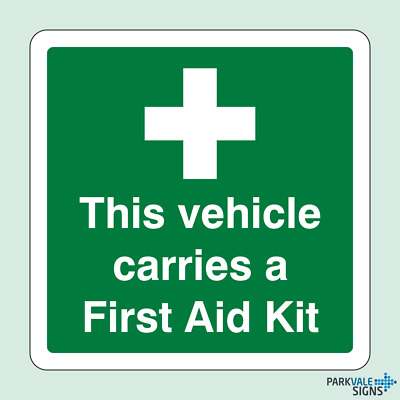 This Vehicle Carries A First Aid Kit Sticker