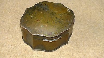 Copper tin, caddy, dressing table box