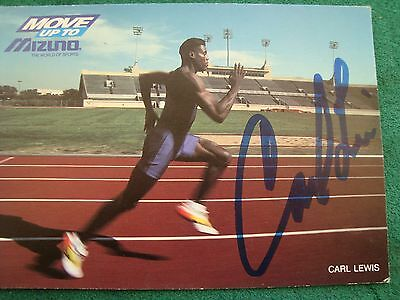 rare signed photo of Carl Lewis