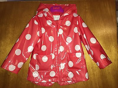 Girls M&S Red Spot Print Mac - Age 18-24 Months