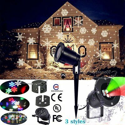 Outdoor LED Moving R&G Snowflake Landscape Laser Projector Lamp Paryt Xmas Light