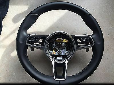 Porsche MACAN 991 Cayenne  958 2015-16 PANAMERA Leather Steering Wheel + HEATING
