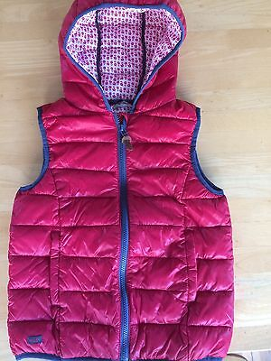 Next Girls Red Body Warmer Hardly Worn Fit Age 9