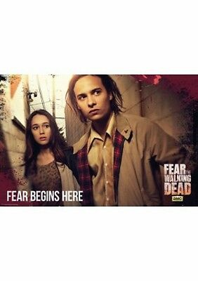 """Fear The Walking Dead Poster """"licensed"""" Brand New """"fear Begins Here"""""""