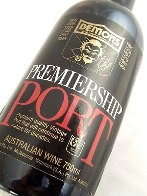 1980 MELBOURNE DEMONS Premiership Vintage Port FREE SHIP A Isle of Wine