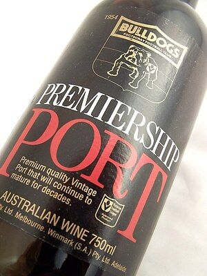 1980 FOOTSCRAY BULLDOGS Premiership Vintage Port FREE SHIP A Isle of Wine