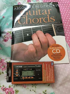 Acoustic Guitar, Tuner and Beginners Book