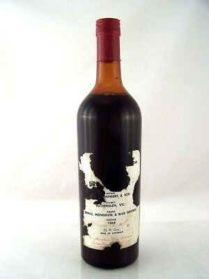 1968 CHAMBERS Rosewood Bin 240 Dry Red Wine Damaged Label B Isle of Wine