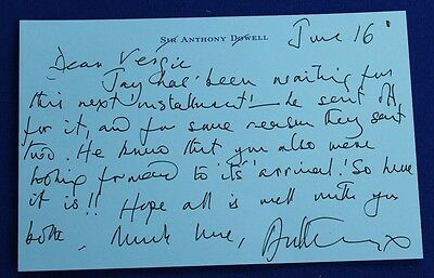 Signed Note Card from Sir Anthony Dowell/Ballet Dancer (Hospiscare)