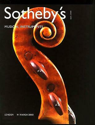 Sotheby's /// Violin Viola Musical Instruments Post Auction Catalog '2003'