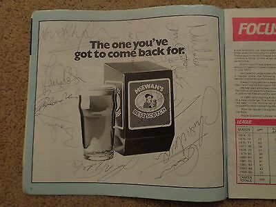 Manchester United SIGNED Programme - CHARLTON ROBSON HUGHES McGRATH & many more