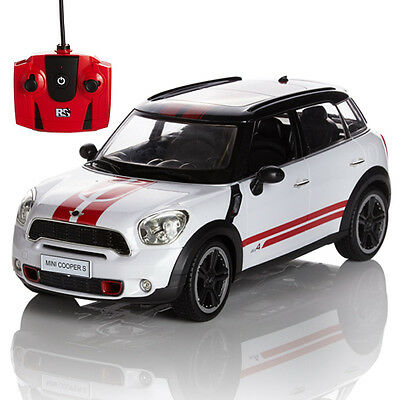Official RC Radio Remote Controlled Car Scale 1.24 Mini Countryman JCW White New