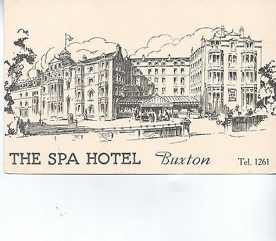 BUXTON Old Artistic postcard of the SPA HOTEL BUXTON