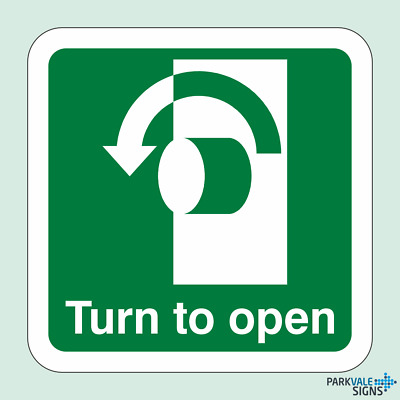 Turn To Open Sign (Anti-Clockwise)