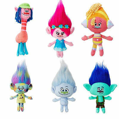 UK DreamWorks Movie Trolls Large Poppy Hug 'N Plush Doll Toy Kids Xmas Gift ALL