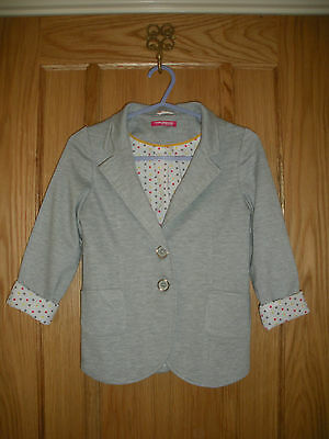 Girls Retro 1980's Style Jacket Age 6-7 Years Fully Lined Good Condition