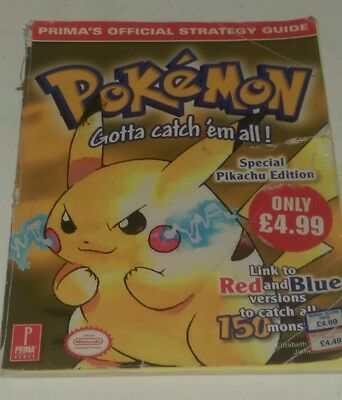 Pokemon Yellow Official Prima Strategy Guide Acceptable Condition - 1999 Release