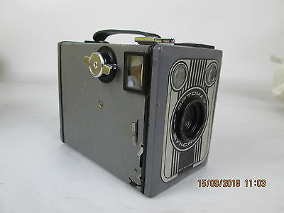 Optomax Syncrona Boxkamera, 1950er Jahre, Made in West-Germany