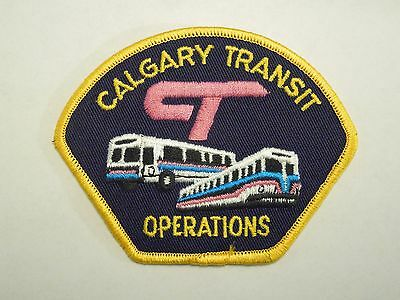 Vintage Calgary Canada Transit Operations Bus and Rail Image Patch