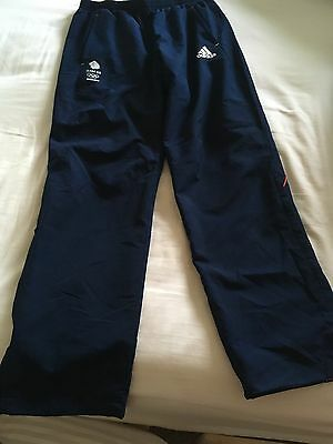 Adidas Sochi 2014 Olympic Team GB Men's Tracksuit Bottoms Athlete Issue Size 34