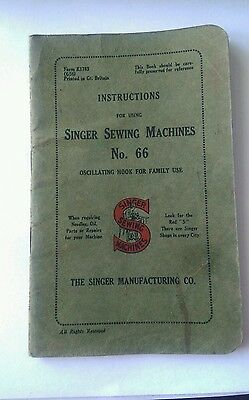 instructions for using singer sewing machines no.66