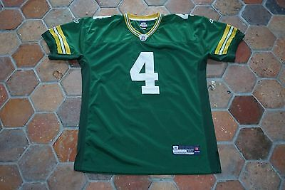 Large Green Bay Packers Jersey Shirt -  4 Favre - Stitched