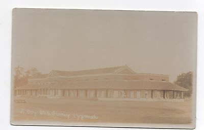 Real Photo Postcard Bungalow 6th East Surrey Regiment Barracks Fyzabad India