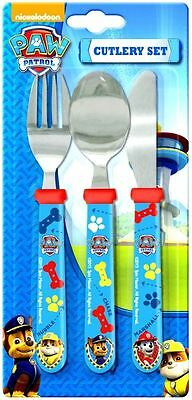 Spearmark Children Kids Paw Patrol Marshall Rubble Chase Cutlery Set Blue