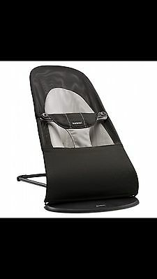 Baby Bjorn Bouncer With Mesh Fabric And The Cotton Gray Fabric