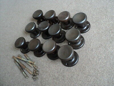 Superb Vintage Bakelite Door Knobs Handles 6 Pairs Original