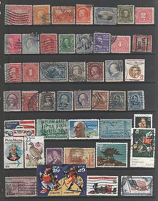 Small Collection of  United States  Stamps 13  All The Stamps Pictured