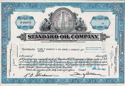 Old Stock / Bond USA - Standard Oil Company (Exxon Corp), 1962 (20 Shares)