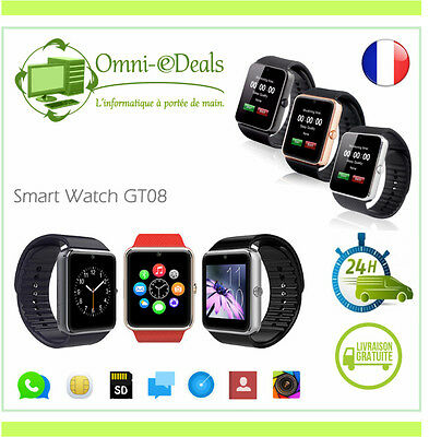 MONTRE GSM BLUETOOTH ANDROID APPLE SMARTWATCH iPhone Samsung GT08 Noir/Argent/Or