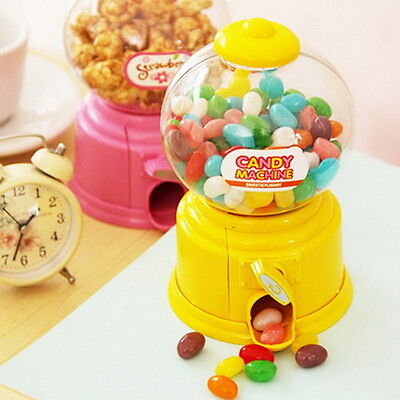 Mini Candy Machine Bubble Gumball Dispenser Coin Bank Kids Toy for Gumballs PM