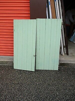Pair Of Vintage Antique Wood Plank Door / Doors
