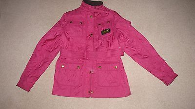 Girls Pink Barbour International Quilt Coat Jacket Age 12-13 Years Hardly Worn
